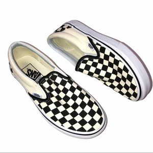 Vans Classic Black White Checkerboard Slip On Shoe